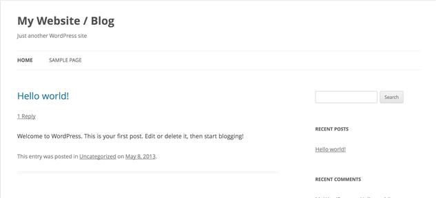 New WordPress BLog SUCCESS