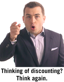 Post image for Discounting is for dummies – here's why (and what to do instead)
