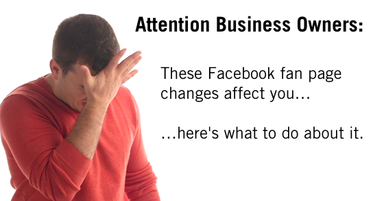 Facebook Fan Page Changes