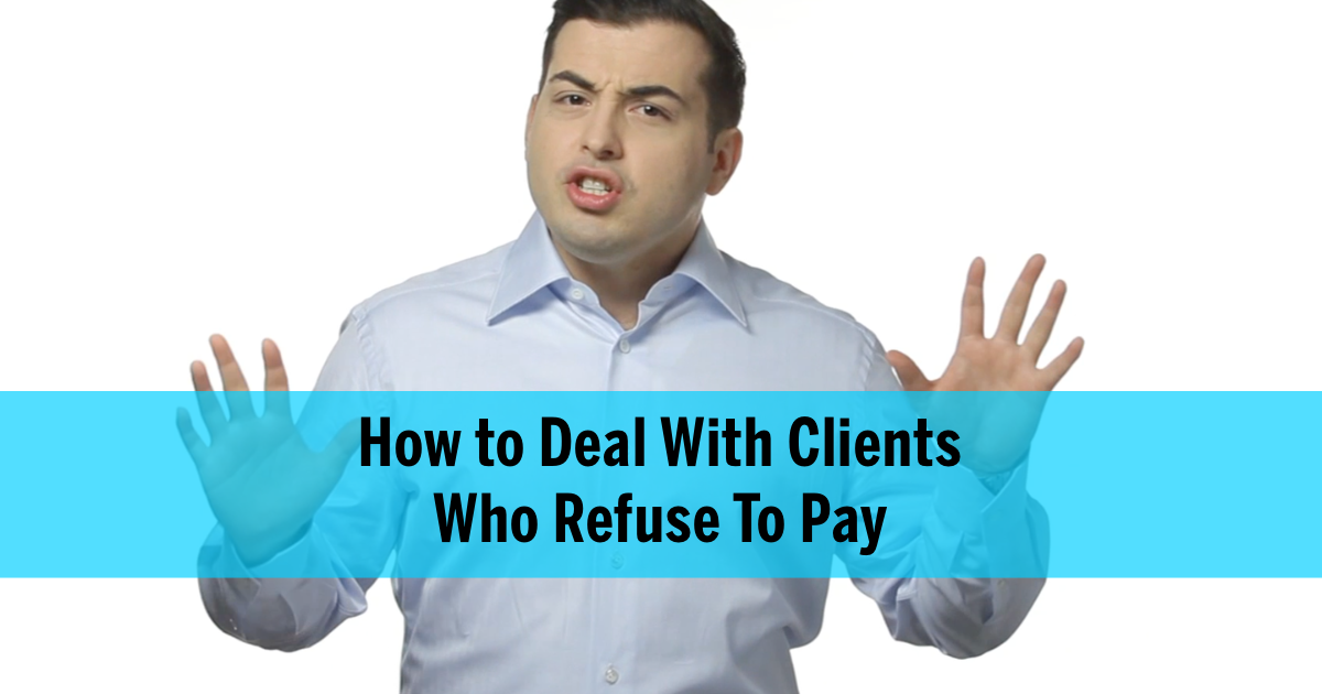deal with paying clients