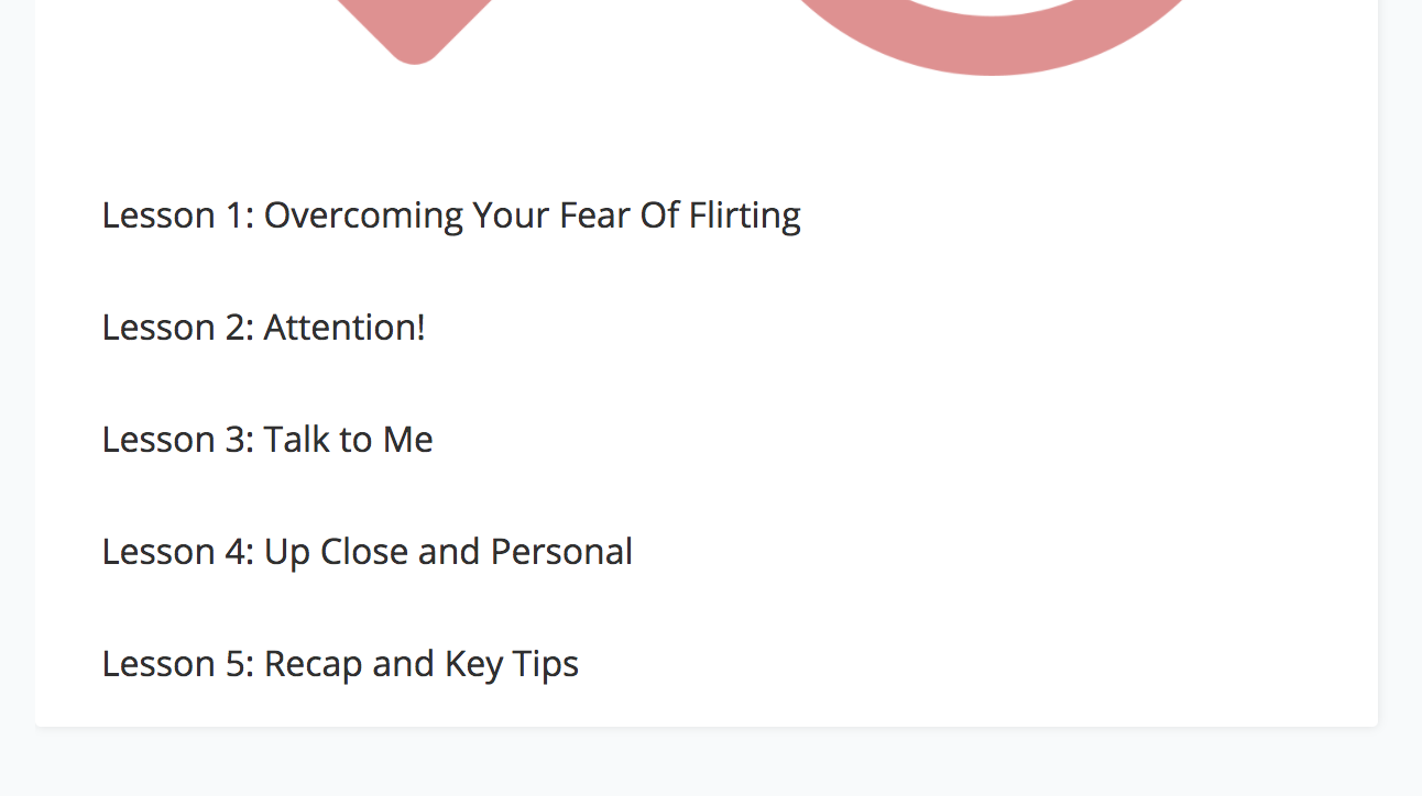 Outline for a mini course on flirting
