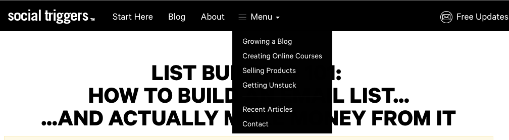 Build Your Email List In Your Menu Bar