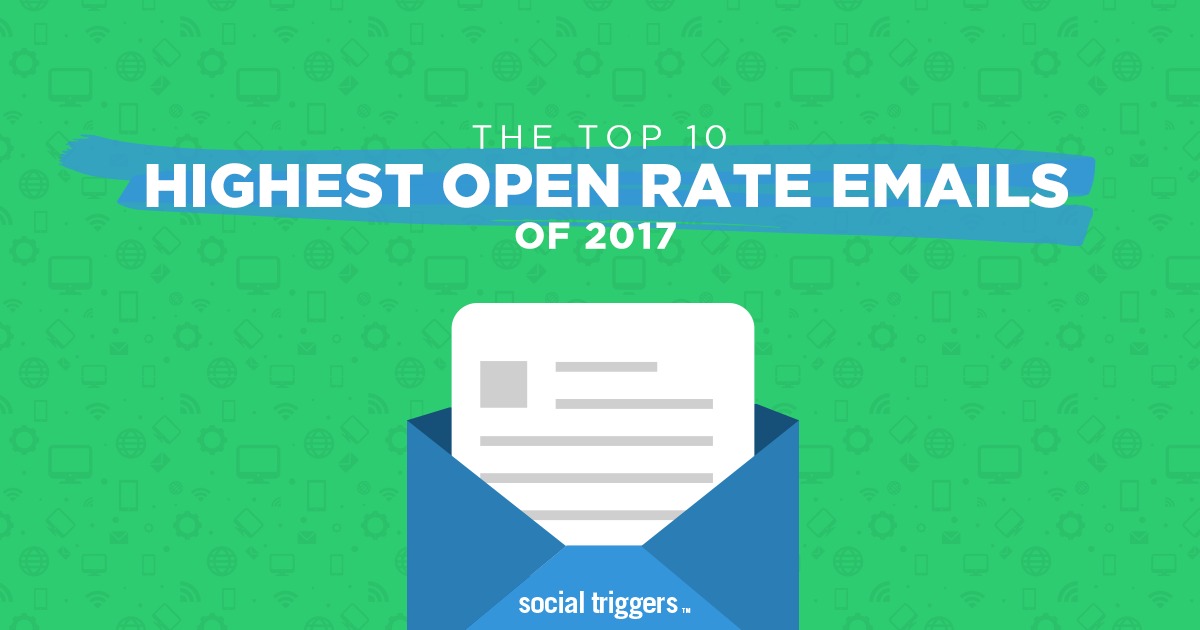 Top 10 Highest Open Rate Emails of 2017