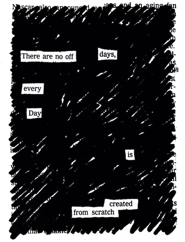 Austin Kleon's Blackout Poetry