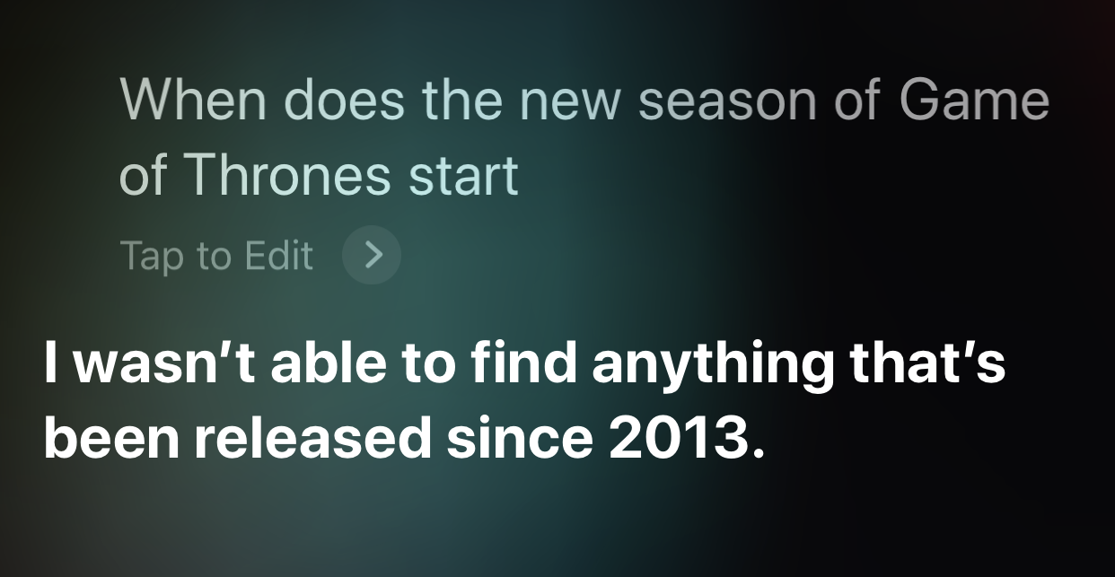 screenshot voice search siri game of thrones