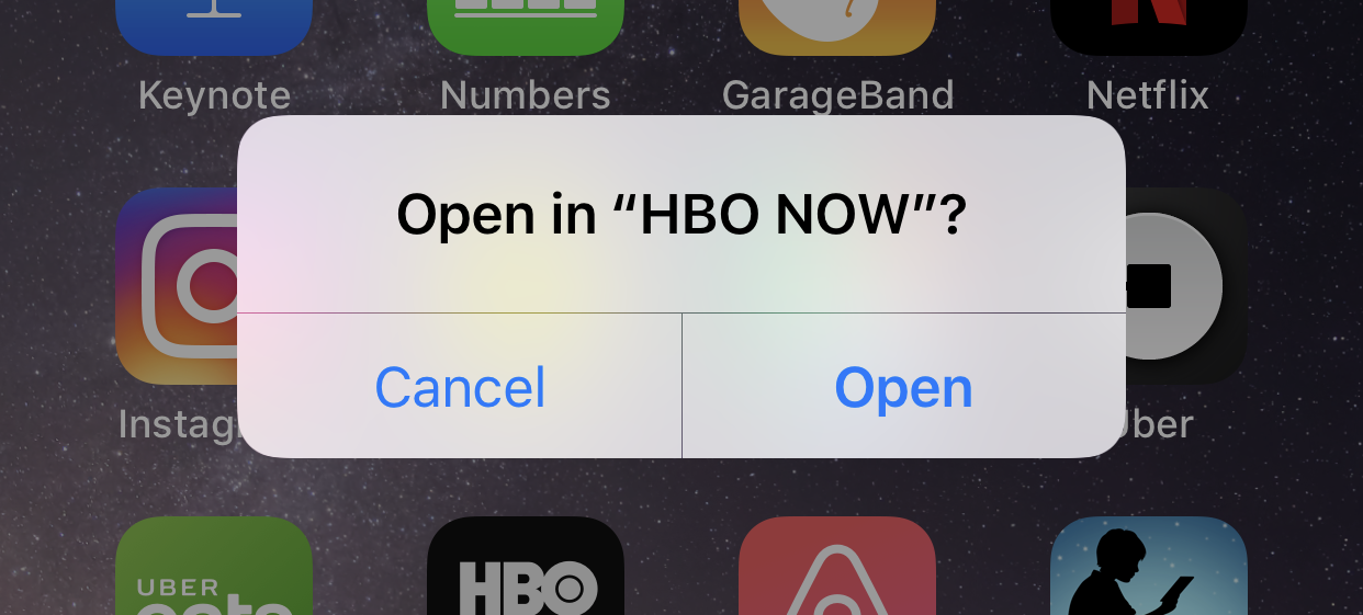 screenshot voice search siri open in HBO NOW