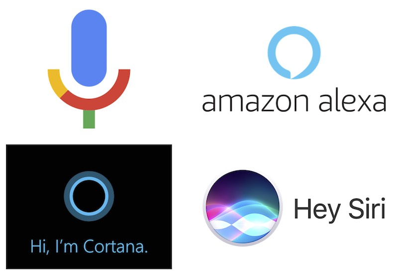 Voice search by Google, Amazon, Microsoft, and Apple