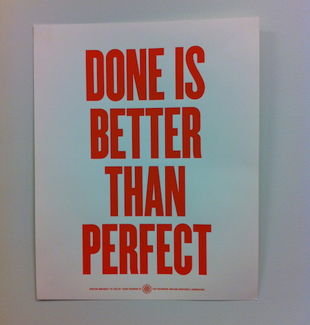 done is better than perfect poster facebook