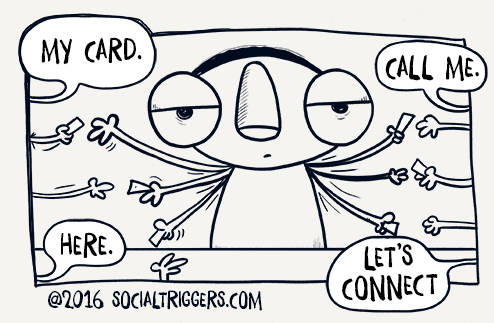 The problem with business cards